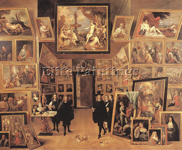 DAVID TENIERS THE YOUNGER ARCHDUKE LEOPOLD WILHELM IN HIS GALLERY 1647 PAINTING