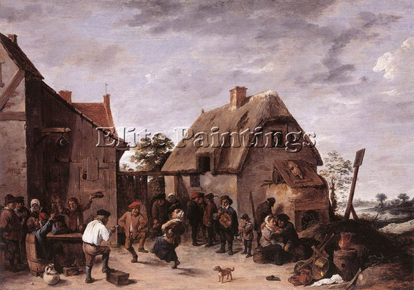 DAVID TENIERS THE YOUNGER FLEMISH KERMESS 1640 ARTIST PAINTING REPRODUCTION OIL