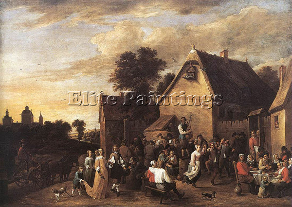DAVID TENIERS THE YOUNGER FLEMISH KERMESS 1652 ARTIST PAINTING REPRODUCTION OIL