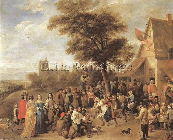 DAVID TENIERS THE YOUNGER PEASANTS MERRY MAKING ARTIST PAINTING REPRODUCTION OIL
