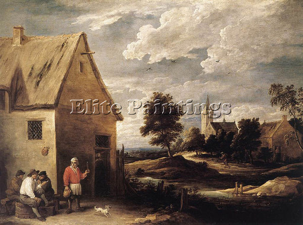 DAVID TENIERS THE YOUNGER VILLAGE SCENE 1 ARTIST PAINTING REPRODUCTION HANDMADE