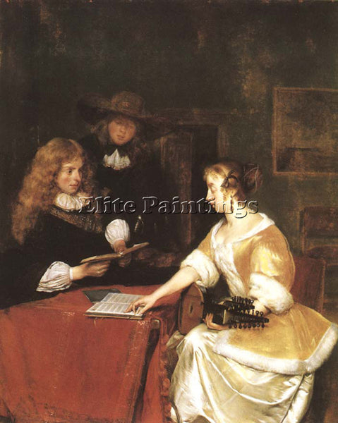 GERARD TER BORCH A CONCERT ARTIST PAINTING REPRODUCTION HANDMADE OIL CANVAS DECO