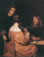 GERARD TER BORCH CARD PLAYERS ARTIST PAINTING REPRODUCTION HANDMADE CANVAS REPRO