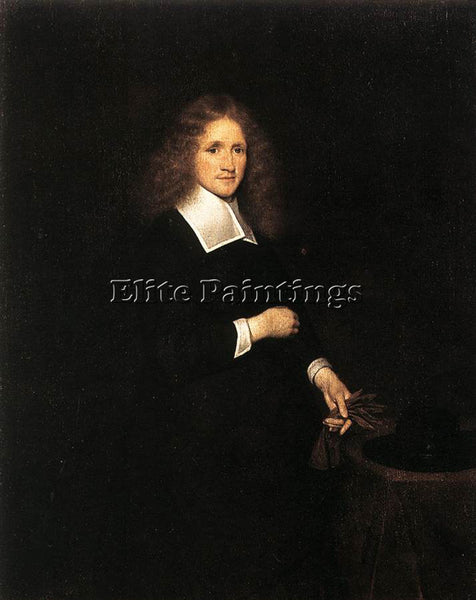 GERARD TER BORCH PORTRAIT OF A YOUNG MAN ARTIST PAINTING REPRODUCTION HANDMADE