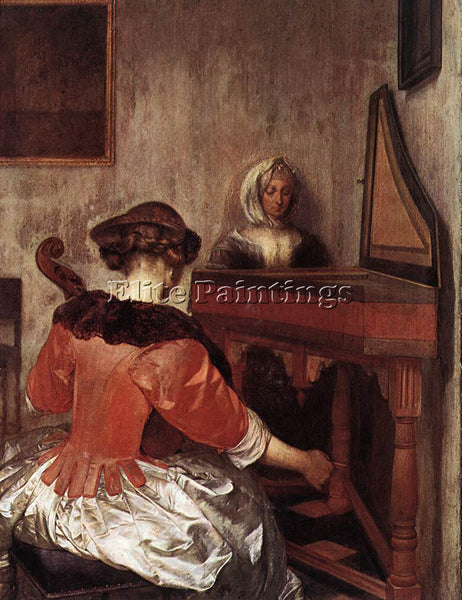 GERARD TER BORCH THE CONCERT 1675 ARTIST PAINTING REPRODUCTION HANDMADE OIL DECO