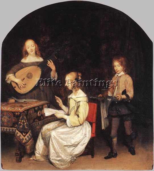 GERARD TER BORCH THE CONCERT ARTIST PAINTING REPRODUCTION HANDMADE CANVAS REPRO