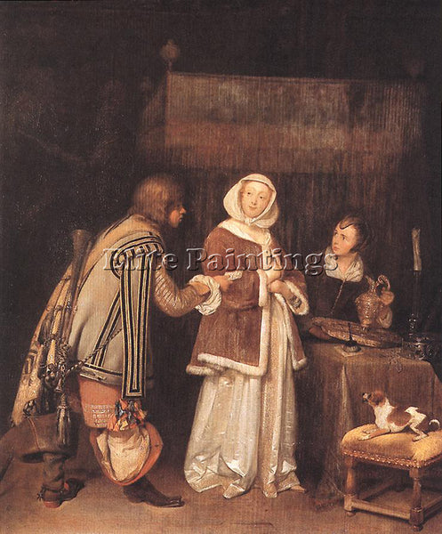 GERARD TER BORCH THE LETTER ARTIST PAINTING REPRODUCTION HANDMADE OIL CANVAS ART