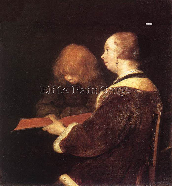 GERARD TER BORCH THE READING LESSON ARTIST PAINTING REPRODUCTION HANDMADE OIL
