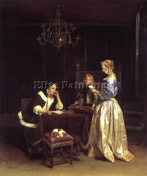 GERARD TER BORCH WOMAN READING A LETTER ARTIST PAINTING REPRODUCTION HANDMADE