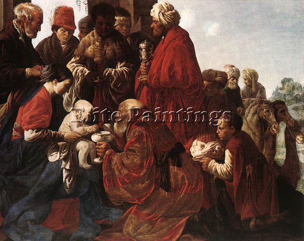 HENDRICK TERBRUGGHEN THE ADORATION OF THE MAGI ARTIST PAINTING REPRODUCTION OIL