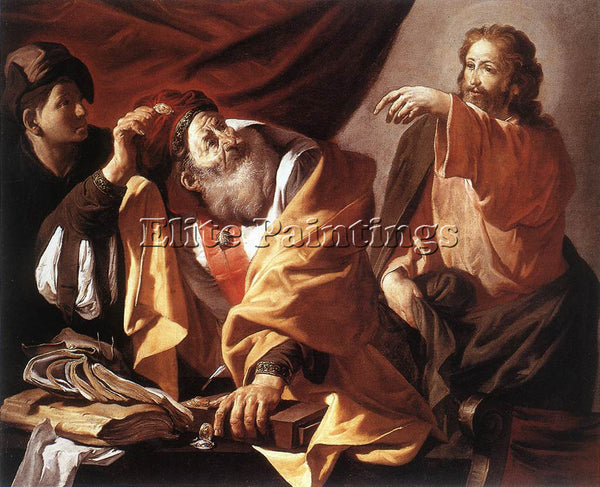 HENDRICK TERBRUGGHEN THE CALLING OF ST MATTHEW 1616 ARTIST PAINTING REPRODUCTION