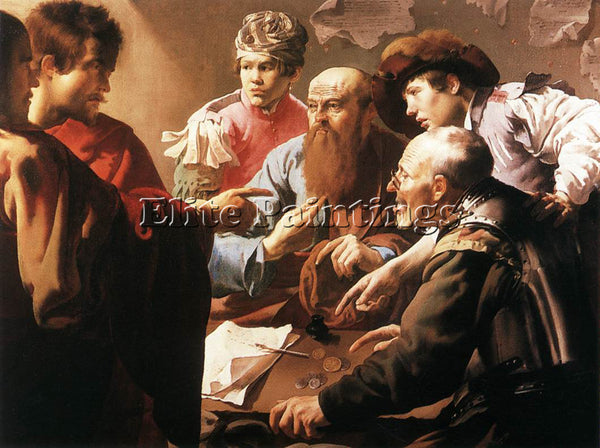 HENDRICK TERBRUGGHEN THE CALLING OF ST MATTHEW ARTIST PAINTING REPRODUCTION OIL