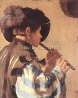 HENDRICK TERBRUGGHEN THE FLUTE PLAYER ARTIST PAINTING REPRODUCTION HANDMADE OIL