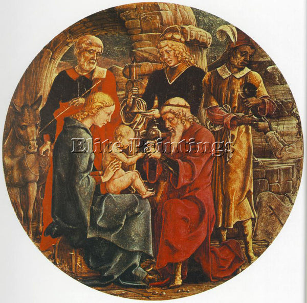 TURA COSME ADORATION OF THE MAGI ARTIST PAINTING REPRODUCTION HANDMADE OIL REPRO
