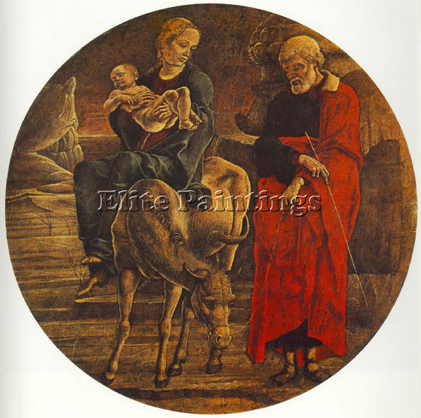 TURA COSME FLIGHT TO EGYPT ARTIST PAINTING REPRODUCTION HANDMADE OIL CANVAS DECO
