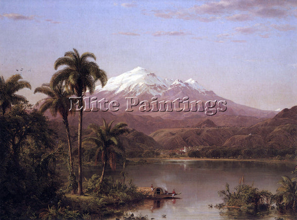 HUDSON RIVER TAMACA PALMS BY FREDERICK EDWIN CHURCH ARTIST PAINTING REPRODUCTION