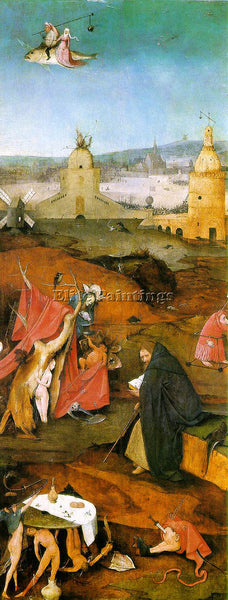 HIERONYMUS BOSCH TEMPTATION OF ST ANTHONY RIGHT WING OF THE TRIPTYCH OIL CANVAS