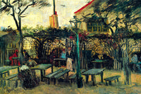 VAN GOGH TERRACE OF A CAFE ARTIST PAINTING REPRODUCTION HANDMADE OIL CANVAS DECO