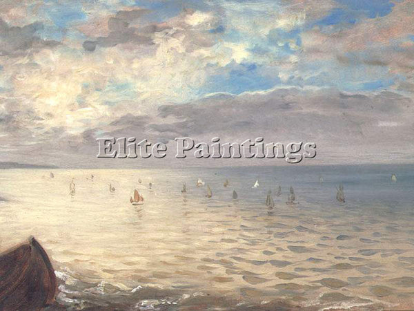 EUGENE DELACROIX THE DIEPPE SEA  ARTIST PAINTING REPRODUCTION HANDMADE OIL REPRO