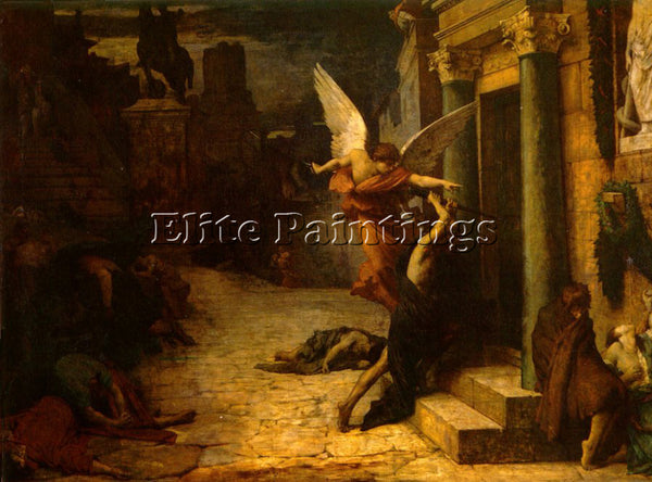JULES-ELIE DELAUNEY THE PLAGUE OF ROME ARTIST PAINTING REPRODUCTION HANDMADE OIL