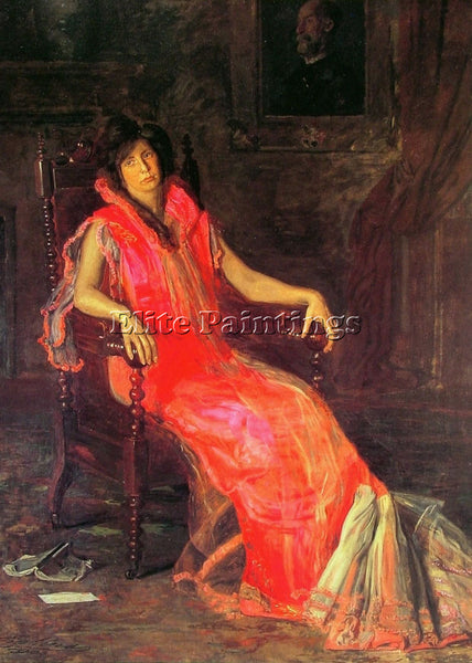 THOMAS EAKINS THE ACTRESS ARTIST PAINTING REPRODUCTION HANDMADE OIL CANVAS REPRO