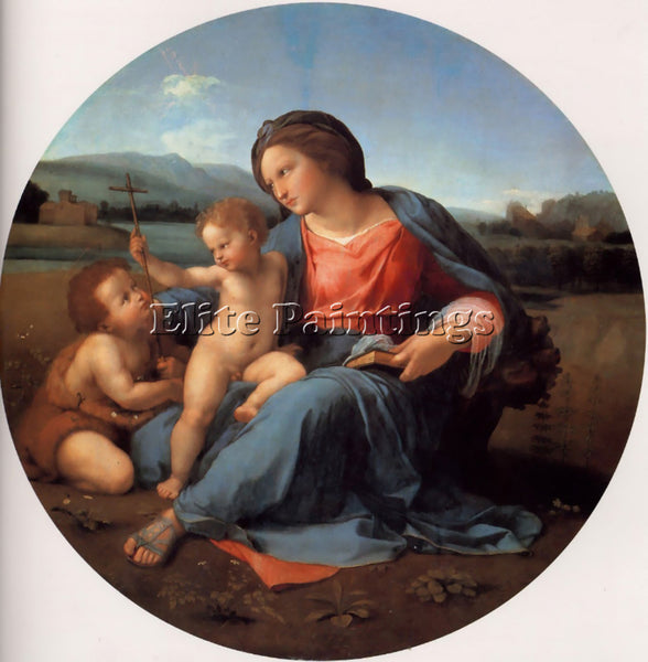 RAPHAEL THE ALBA MADONNA ARTIST PAINTING REPRODUCTION HANDMADE CANVAS REPRO WALL