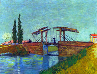 VAN GOGH THE ANGLOIS BRIDGE AT ARLES THE DRAWBRIDGE  ARTIST PAINTING HANDMADE