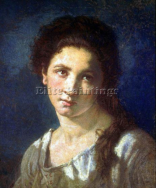 THOMAS COUTURE THE ARTISTS DAUGHTER ARTIST PAINTING REPRODUCTION HANDMADE OIL