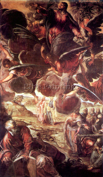 TINTORETTO THE ASCENSION 2 ARTIST PAINTING REPRODUCTION HANDMADE OIL CANVAS DECO