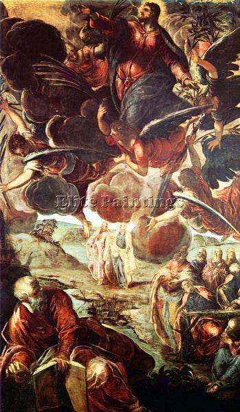 TINTORETTO THE ASCENSION ARTIST PAINTING REPRODUCTION HANDMADE CANVAS REPRO WALL
