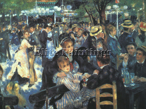 PIERRE AUGUSTE RENOIR THE BALL AT THE MOULIN DE LA GALETTE ARTIST PAINTING REPRO