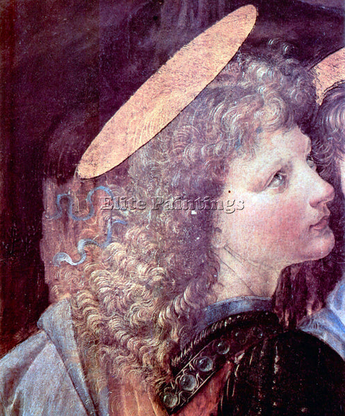 LEONARDO DA VINCI THE BAPTISM OF CHRIST DETAIL 2  ARTIST PAINTING REPRODUCTION