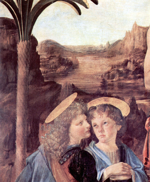 LEONARDO DA VINCI THE BAPTISM OF CHRIST DETAIL ARTIST PAINTING REPRODUCTION OIL