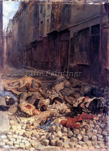 JEAN-LOUIS ERNEST MEISSONIER THE BARRICADE 12X9IN ARTIST PAINTING REPRODUCTION