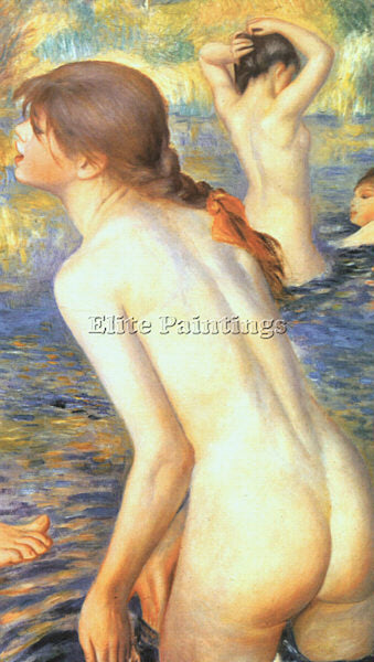 PIERRE AUGUSTE RENOIR THE BATHERS DETAIL ARTIST PAINTING REPRODUCTION HANDMADE