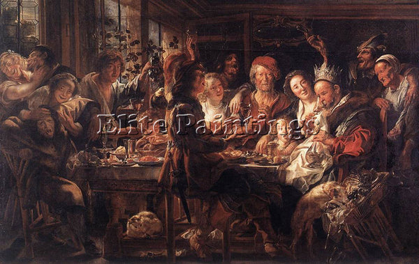 JACOB JORDAENS THE BEAN KING2 ARTIST PAINTING REPRODUCTION HANDMADE CANVAS REPRO