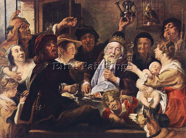 JACOB JORDAENS THE BEAN KING3 ARTIST PAINTING REPRODUCTION HANDMADE CANVAS REPRO