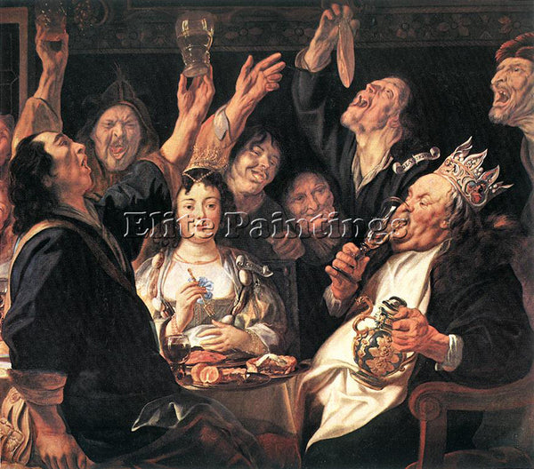 JACOB JORDAENS THE BEAN KING DETAIL ARTIST PAINTING REPRODUCTION HANDMADE OIL
