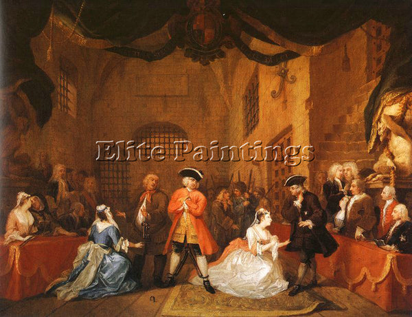 WILLIAM HOGARTH THE BEGGARS OPERA 5 ARTIST PAINTING REPRODUCTION HANDMADE OIL