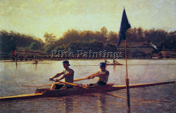 THOMAS EAKINS THE BIGLIN BROTHERS TURNING THE STAKE ARTIST PAINTING REPRODUCTION