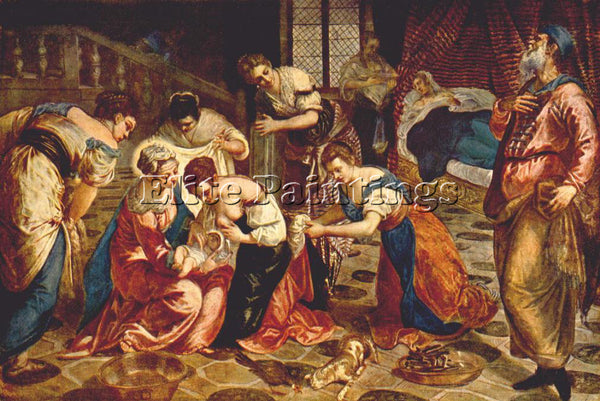 JACOPO ROBUSTI TINTORETTO THE BIRTH OF ST JOHN THE BAPTIST ARTIST PAINTING REPRO