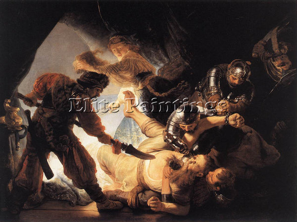 REMBRANDT THE BLINDING OF SAMSON ARTIST PAINTING REPRODUCTION HANDMADE OIL REPRO