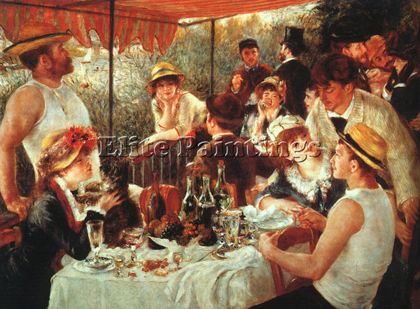 PIERRE AUGUSTE RENOIR THE BOATING PARTY LUNCH ARTIST PAINTING REPRODUCTION OIL