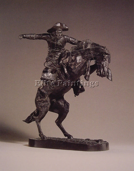 FREDERIC REMINGTON THE BRONCO BUSTER ARTIST PAINTING REPRODUCTION HANDMADE OIL