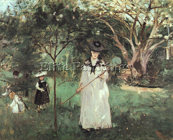 BERTHE MORISOT THE BUTTERFLY CHASE ARTIST PAINTING REPRODUCTION HANDMADE OIL ART