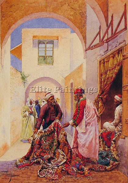GIULIO ROSATI THE CARPET SELLERS ARTIST PAINTING REPRODUCTION HANDMADE OIL REPRO