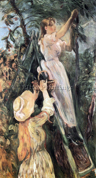 MORISOT THE CHERRY TREE ARTIST PAINTING REPRODUCTION HANDMADE CANVAS REPRO WALL