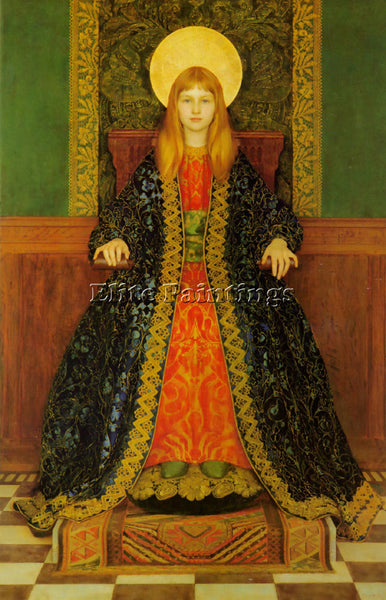 THOMAS COOPER GOTCH THE CHILD ENTHRONED ARTIST PAINTING REPRODUCTION HANDMADE