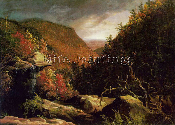 THOMAS COLE THE CLOVE CATSKILLS ATC ARTIST PAINTING REPRODUCTION HANDMADE OIL