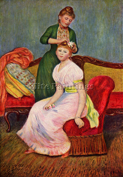 RENOIR THE COIFFOIRE ARTIST PAINTING REPRODUCTION HANDMADE OIL CANVAS REPRO WALL